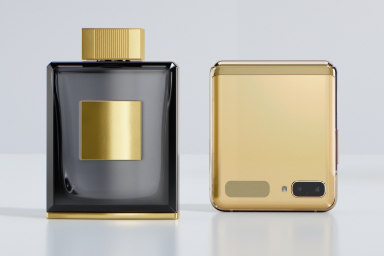 Samsung-Galaxy-Z-Flip-mirror-gold-cologne