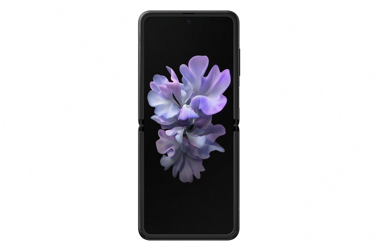 Samsung-Galaxy-Z-Flip-mirror-black-unfolded-front